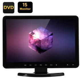 Multi Monitor Lcd Dvd Player Tv Fhd 15 Polegadas
