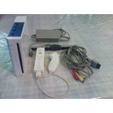 Wii Chipeado Con Control, Nunchuk Y Todos Sus Cables
