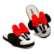 Chinelo Pantufa Minnie Mouse Lacinho   Disney   Unissex