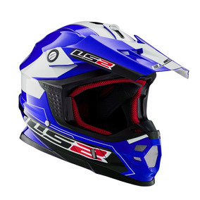 Casco Cross Ls2 456 Launch Doble Anillo Retencion Oficial