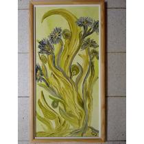 Cuadro Abstracto Pintura En Acrílico Muy Original.35 X 68 Cm