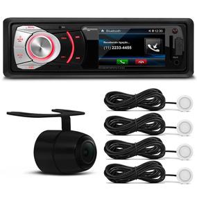 Toca Mp3 Carro Usb Sd Bluetooth + Camera Re + Sensor Estacio