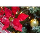 Flores De Navidad Para Decorar Arboles, Coronas, Linda Navid