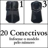 Conectivo Conector Pé Para Balcão De Vidro Ou Aramado 20 Un