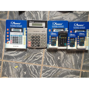 Kit 7 Calculadoras Kenko Frete A Consultar, 4 Grande 3 Peque