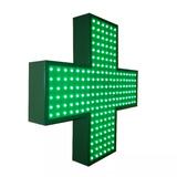 Cartel Cruz Led Farmacia 60 Doblefaz Multiefectos - Playled