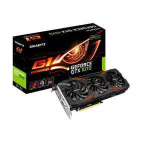 Placa De Vídeo Geforce Gtx 1070 G1 Gaming Gigabyte 8gb 256