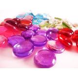 Gemas De Vidrio Piedras Variedad De Colores Decoracion X600