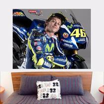 Adesivo De Parede Poster Foto Moto Gp Valentino Rossi