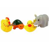 Juguete Bebe 4 Animales Hule Safari Marino Pato Niño Patito