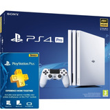 Ps4 Consola Play Station 4 Pro 1 Tb Blanco + Plus 3 Meses