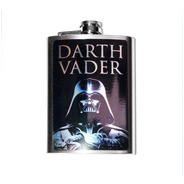 Cantil Porta Bebida De Bolso Darth Vader Aço 210 Ml