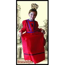 Disfraz Dama Antigua Patrio Escolar Para Nena Friselina