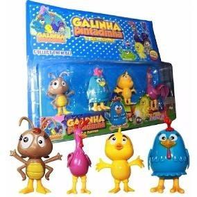 Kit Bonecos Turma Galinha Pintadinha Brinquedo Infantil Cl29