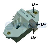 Regulador Voltagem 14v 95a Volkswagen Ford Fiat Gauss Ga028