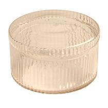 Vaso Ondulado Transparente Em Vidro - 28x2 S/juros S/frete
