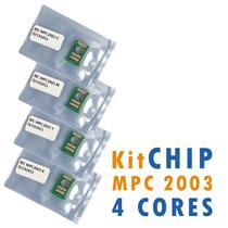 Kit Chip P/ Ricoh Mpc 2003, 2503 4 Cores 15.000 Cópias