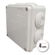 Paq 4 Caja De Derivación Ip55 Exterior 7 Entradas 10x10x5 Cm
