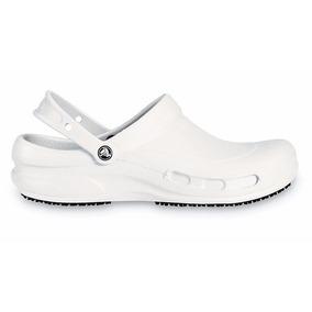 Crocs Bistro Blanco Negro Sueco De Goma Unisex Original