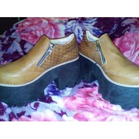 Zapatos D Mujer Nuevos Plataforma De Madera Numero 37