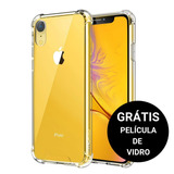 Capa Capinha Transparente Iphone Xr Anti Impacto + Pelicula