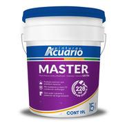 Pintura Vinílica Premium Master Acuario 19 L. Color Blanco