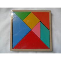 Jogo Tangram Madeira Mdf Antigo Puzzzle Chines (fp)