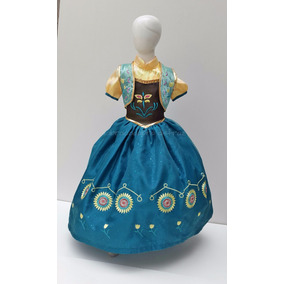Vestido Disfraz Estilo Ana Fever Fiebre Elsa Frozen