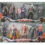 Set 10 Muñecos Avengers Capitan America Spiderman Iron Man