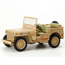 Miniatura Em Metal - 1:18 - Jeep Willys Militar 1/4 Ton U.s