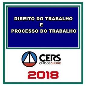 Processo E Direito Do Trabalho Cers 2018 -técnico E Analista
