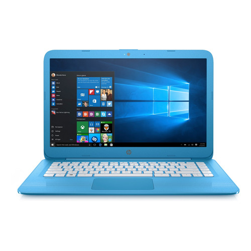 "Notebook HP Stream 14-CB011WM blue 14"", Intel Celeron N3060  4GB de RAM 32GB SSD, Intel HD Graphics 400 1366x768px Windows 10 Home"