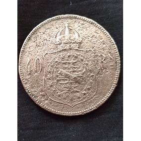 Moeda Da Época Do Império. 40 Reis Ano 1880