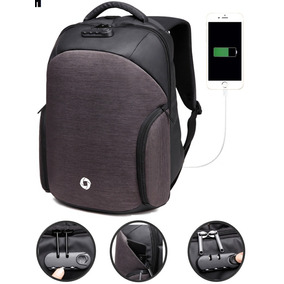 Mochila Backpack Candado Antirobo Impermeable Usb Powerbank