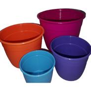 Macetas Reforzadas 50 Cm Plastico Simil Varios Colores