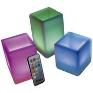 Vela Eletrônica Box Led Rgb Com 3 Unidades E Controle Remoto