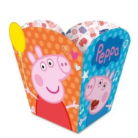 Mini Caixa Pipoca Peppa Pig C/ 12 Unid.