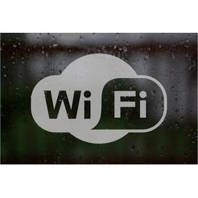 Wifi Logo Esmerilado P/ Vidrios Calco Sticker Vidrieras