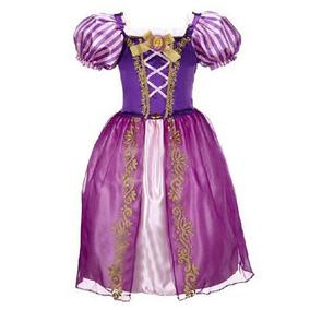 Vestido Estilo Princesa Rapunzel Disney Fantasia Lindo