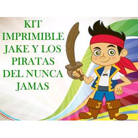 Kit Imprimible Fiesta Jake Y Los Piratas-invitación Cotillon