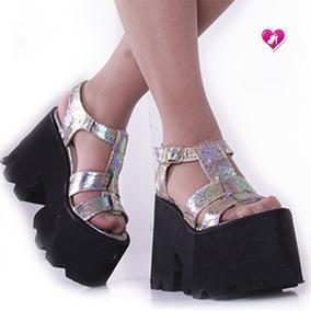 Sandalia Alta Con Plataforma Mod Magy De Shoes Bayres Sale