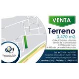 Venta. Terreno 3.470 M2. San Luis, Capital.