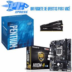 Kit 7ºgeração H110 + Intel Pentium G4560 + Memoria 4gb Drr4