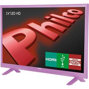 Tv Led 24 Polegadas Philco Ph24e30dr Rosa Hd Com Conversor