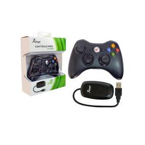 Controle Sem Fio Xbox 360 E Pc Knup Kp-5122a Preto