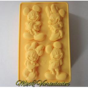 Molde De Silicone Mickey &minnie Pasta Americana Chocolate