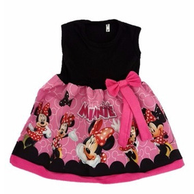 Vestido Infantil Festa Minnie Rosa Roupa/fantasia