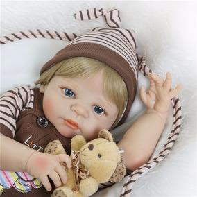 Bebê Reborn Silicone Menino Frete Grátis 55cm Com Certidão