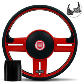 Volante Shutt Rallye Slim Xtreme Vermelho Palio Uno Punto