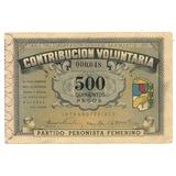 Bono Contribucion Evita Peron Voto Femenino Peronismo ´50